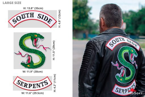Riverdale South Side Serpents Emblem Infographic Large
