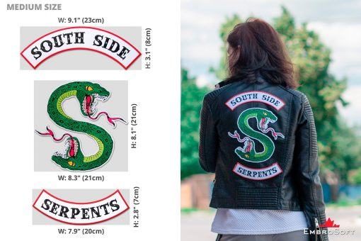 Riverdale South Side Serpents Emblem Infographic Medium