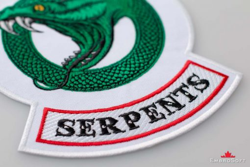 Riverdale South Side Serpents Logotype Small White Macro 2