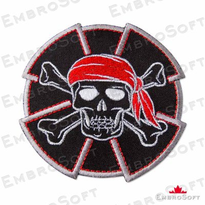 Jolly Roger in a Red Bandana Frontal
