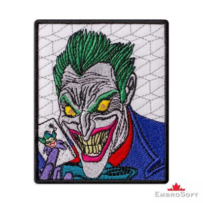 Joker DC Comics Embroidered Patch Frontal Photo