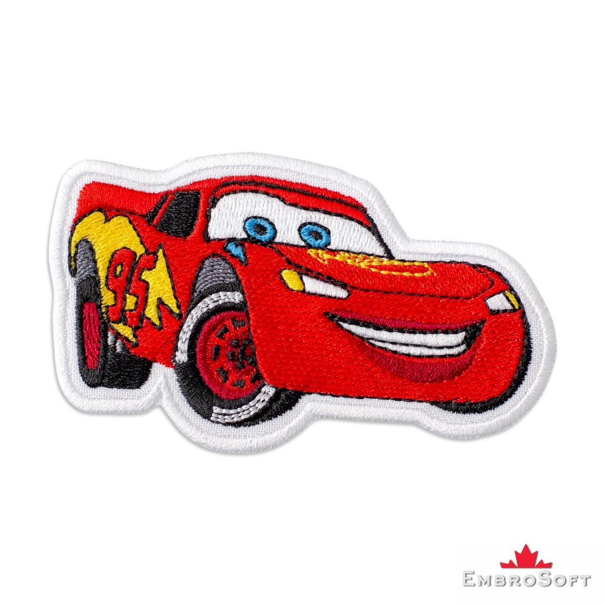 Cars Lightning Mcqueen Embroidered Patch Iron On Embrosoft