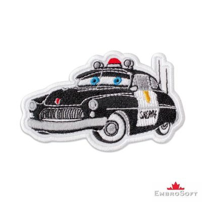 Cars Sheriff Embroidered Patch Iron On Cars