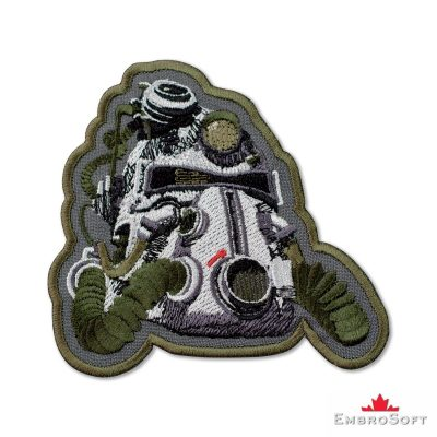 Fallout 3 T-51b Power Helmet Embroidered Patch Iron On Fallout