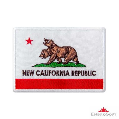 Fallout New California Republic Flag Embroidered Patch Iron On Fallout