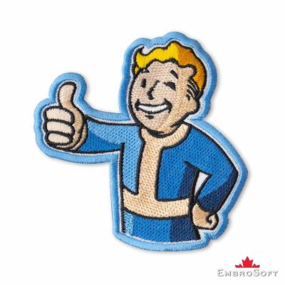 Fallout Vault Boy Embroidered Patch Iron On Fallout