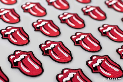 The Rolling Stones' Logo Tongue Lying On Surface