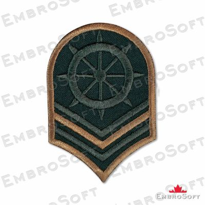 Chevron Ship's Wheel US Navy Embroidered Patch Iron On Military & Weaponry