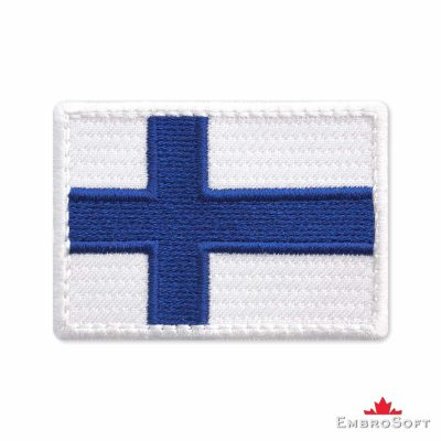 Flag of Finland Embroidered Patch (2.8″ × 2″) Flags of Europe