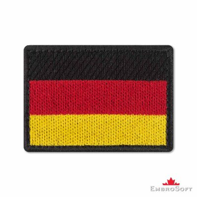 Flag of Germany Embroidered Patch (2.8″ × 2″) Flags of Europe