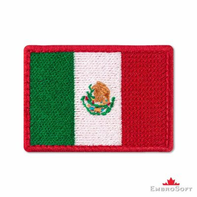 Flag of Mexico Embroidered Patch (2.8″ × 2″) Flags of North America