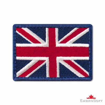Flag of United Kingdom Embroidered Patch (2.8″ × 2″) Colored rectangular flags