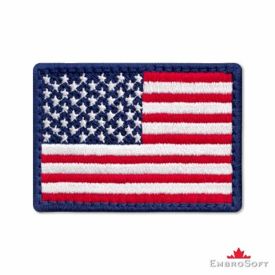 Flag of United States of America Embroidered Patch (2.8″ × 2″) Colored rectangular flags