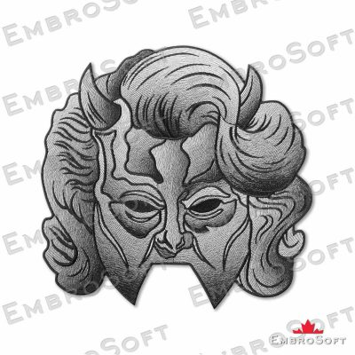 Ghost BC Nameless Ghouls Shadow Woman's Mask Large Frontal