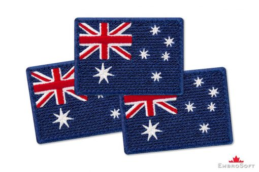 Flag Embroidered Patch of Australia Collage Photo