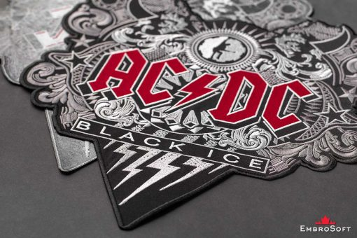 AC/DC Black Ice Embroidered Patch Background Collage Photo
