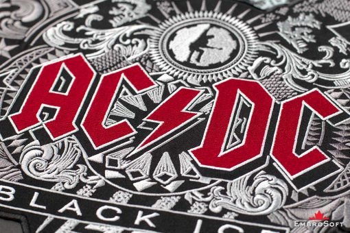 AC/DC Black Ice Embroidered Patch Macro 2 Photo
