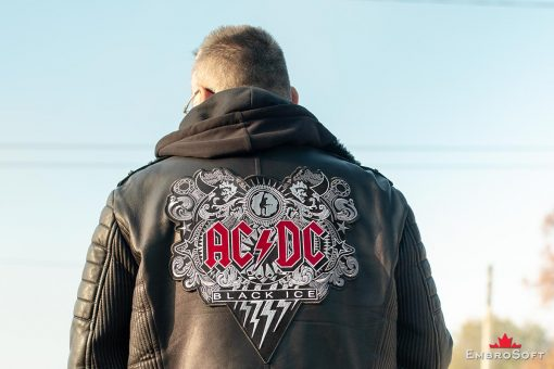 AC/DC Black Ice Embroidered Patch Example Photo