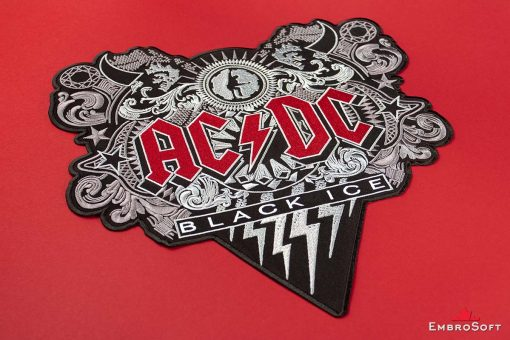 AC/DC Black Ice Embroidered Patch Background Photo