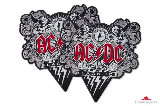 AC/DC Black Ice Embroidered Patch Collage Photo