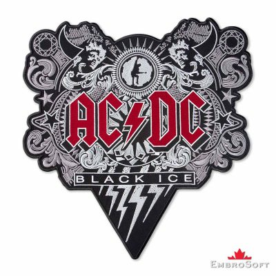 AC/DC Black Ice Embroidered Patch Frontal Photo