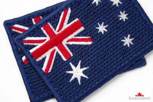Flag Embroidered Patch of Australia Macro Photo