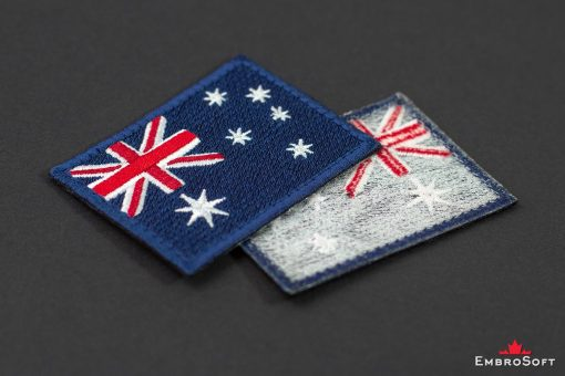 Flag Embroidered Patch of Australia Background Collage Photo