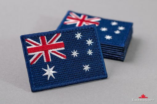 Flag Embroidered Patch of Australia Pile Photo