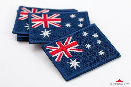 Flag Embroidered Patch of Australia Lying On Surface Collage Photo