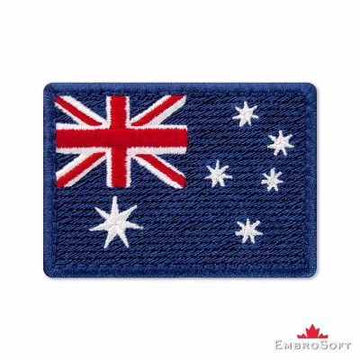 Flag of Australia Embroidered Patch (2.8″ × 2″) Colored rectangular flags