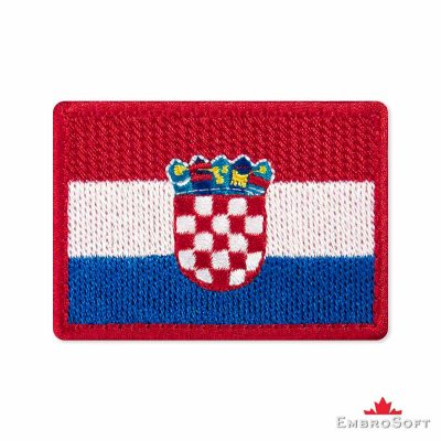 Flag of Croatia Embroidered Patch (2.8″ × 2″) Flags of Europe