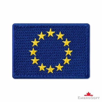 Flag of European Union Embroidered Patch (2.8″ × 2″) Flags of Europe