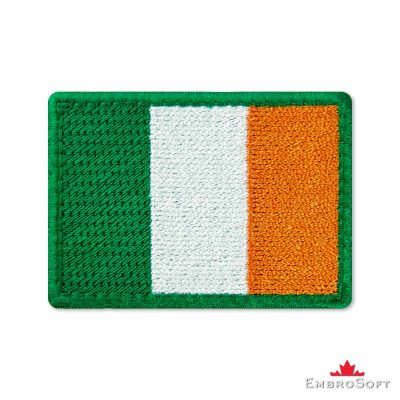 Flag of Ireland Embroidered Patch (2.8″ × 2″) Flags of Europe
