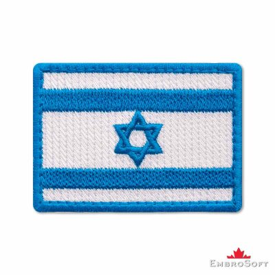 Flag of Israel Embroidered Patch (2.8″ × 2″) Flags of Asia