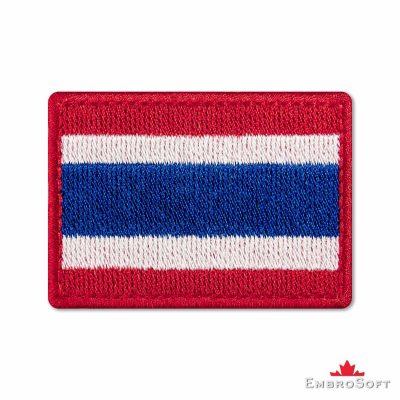 Flag of Thailand Embroidered Patch (2.8″ × 2″) Flags of Asia
