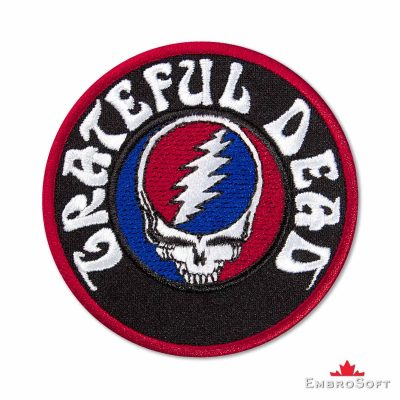 Grateful Dead Logo with Text Embroidered Patch (3″ x 3″) Grateful Dead