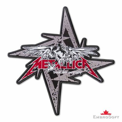 Metallica Seek and Destroy Embroidered Patch Frontal Photo