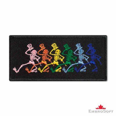 Grateful Dead Jumbo Dancing Skeletons Embroidered Patch (4.4″ x 2″) Grateful Dead