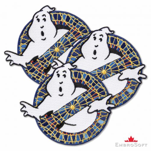 Ghostbusters I Stylized Logo Embroidered Patch (4.1″ x 3.7″) Ghostbusters