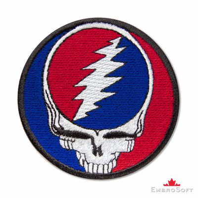 Grateful Dead Logo Embroidered Patch (3″ x 3″) Grateful Dead