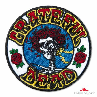 Grateful Dead Skull and Roses Embroidered Patch (4.4″ x 4.3″) Grateful Dead