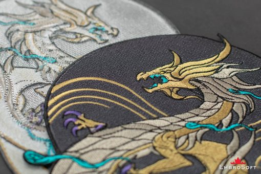 Dragon K/DA Akali from League of Legends LOL Embroidered Patch Background Collage Photo