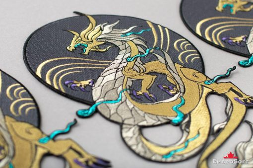 Dragon K/DA Akali from League of Legends LOL Embroidered Patch Lying On Surface Photo