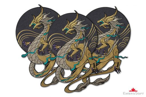 Dragon K/DA Akali from League of Legends LOL Embroidered Patch Collage Photo