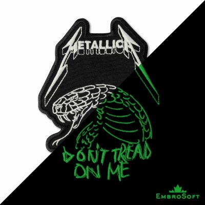 Metallica Don't Tread on Me Embroidered Glowing Patch (4.5″ x 5.9″) Glow in the dark