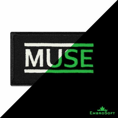 Muse Logo Embroidered Glowing Patch (3.2″ x 1.8″) Glow in the dark