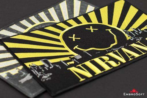 Nirvana Smells Like Teen Spirit Logo Embroidered Patch (12.1″ x 7.4″) Music