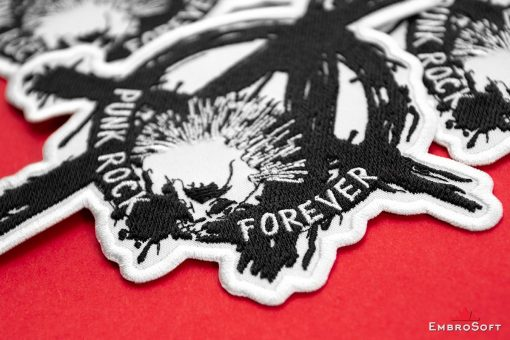 Punk Rock Forever Embroidered Patch (5.7″ x 6.1″) Music