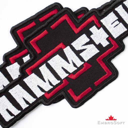 Rammstein Logo Embroidered Patch (6.8″ x 3.1″) Music