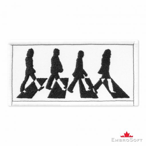The Beatles Abbey Road Embroidered Patch (3.8ʺ x 1.9ʺ) Music